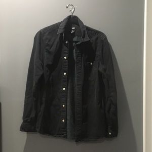 H&M Black Button Down